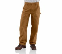 Carhartt Washed Duck Double-Front Work Dungaree (Carhartt Brown) Pant 36 X 34