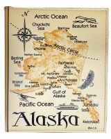 Deluxe Alaska Map Photo Album 200 Pictures