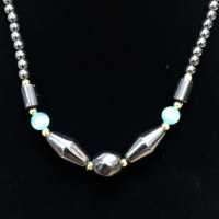 "16"" Hematite/Turq. Necklace"