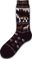 Alaska Howling Wolf Socks