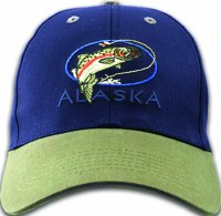 Alaska Salmon Fly Twill Hat