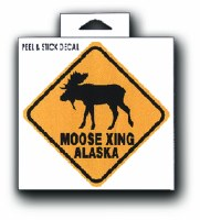 Moose Crossing Decal