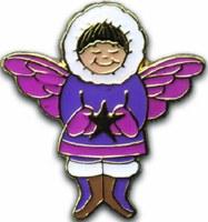 紫色天使别针