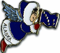 Angel With Alaska Flag Pin