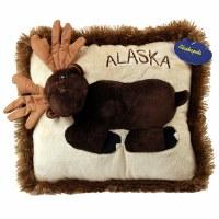 """13"""" Moose Pillow W/Alaska"""