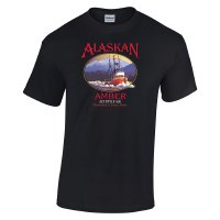 Alaskan Amber Black Tee - Medium
