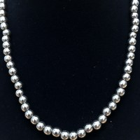 "20"" Hematite Necklace with 6mm beads"