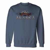 Paw Peaks Moose Alaska Sweatshirt- Large