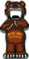 Grizzley Bear Bite Me Alaska Bottle Opener
