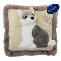 "13"" Alaska Husky Pillow w/Alaska"