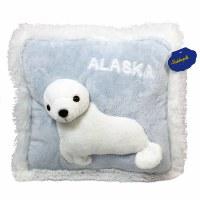 """13"""" Alaska Seal Pillow w/Alaska"""