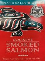 4 Oz. Wild Smoked Sockey Salmon