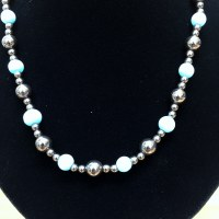 "16"" Blue Cats Eye Necklace"