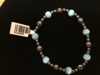 Hematite With Blue Cats Eye Bracelet