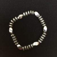 Hematite Twist Bead Bracelet