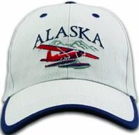 阿拉斯加布什飞机斜纹帽子