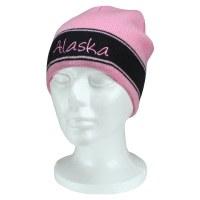 粉色海军蓝Alaska Script针织帽