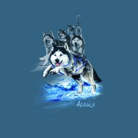 Alaska Sled Dog Tee - Large