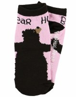 Slipper Sock  Bear Hug Pink