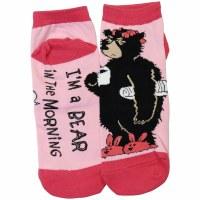 Slipper Socks I'm A Bear In The Morning