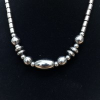 "16"" Hematite Necklace"