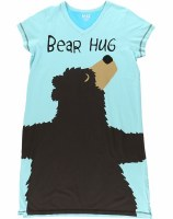 V-Neck Nightshirt Bear Hug Small / Medium