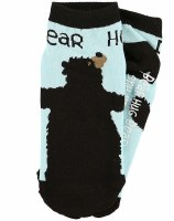 Slipper Sock Bear Hug Blue