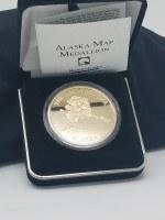 Alaska Collectible Coin Alaska Map