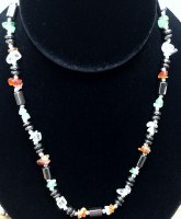 "16"" Hematite & Multi-colored Bead Necklace"