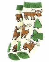 Infant Socks Moose Hug Green 18-24 Months