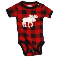 Moose Plaid Infant Creeper - 12 Month