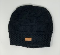 Women's Black Knit Hat with Alaska Patch