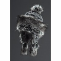 Faux Fur Hat Bayka - Grey