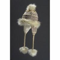 Faux Fur Hat Noora - Tan & Brown