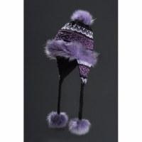 Faux Fur Hat Noora - Black, Grey, Pink & Purple