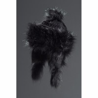 Faux Fur Hat Bayka - Black