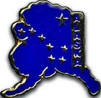 Blue Alaska Pin