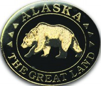 Alaska The Great Land Bear Pin