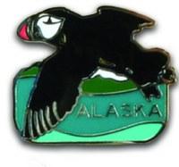 Puffin Alaska Pin
