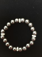 Hematite Bracelet with Crystal Spacers