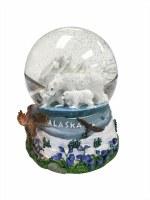 阿拉斯加蒙太奇大雪景球