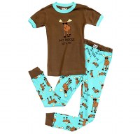 Lazy One Boy's Pj Set 'Don't Moose With Me' - 2T