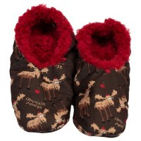 Fuzzy Feet Slippers 'Chocolate Moose' - Small/ Medium