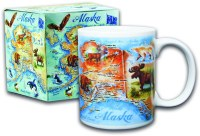Watercolor Alaska Map Boxed Mug