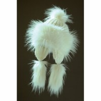 Faux Fur Hat Bayka - White