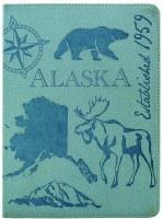 蓝色素描阿拉斯加笔记本
