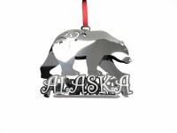 银色北极熊阿拉斯加圣诞节装饰品