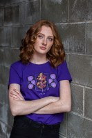 Women's Incandescent Aspen Tee Purple - Small