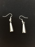 Hematite Earrings Cylindrical Triangle