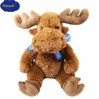 "14"" Plush Fluffy Moose"